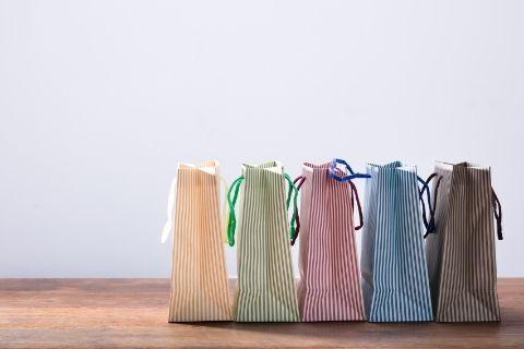 5つのショッピングバッグ